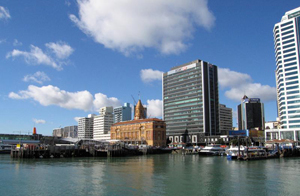 Climate & Human Systems: Auckland, New Zealand skyline and waterfront