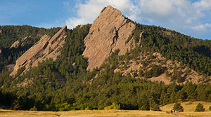 A view of the Flatirons