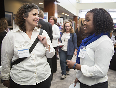Kristin Mooney and Melissa Burt at NSF GEO workshop, UCAR, March 2014